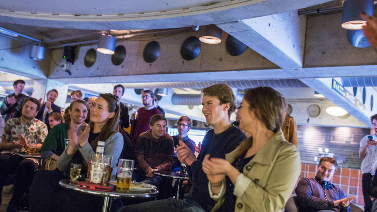 New prices: If you're a member, prepare for higher prices. Pictured here: student politicians enjoying a beer after the 2016 elections.